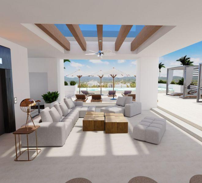 Elevator - Roof Terrace - Pavilion Bucerias - Riviera Nayarit Mexico