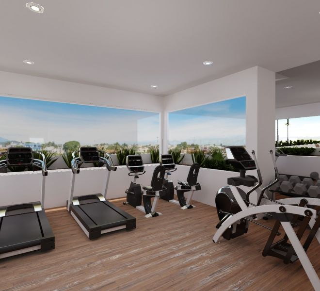 Fitness area - Roof Terrace - Pavilion Bucerias - Riviera Nayarit Mexico