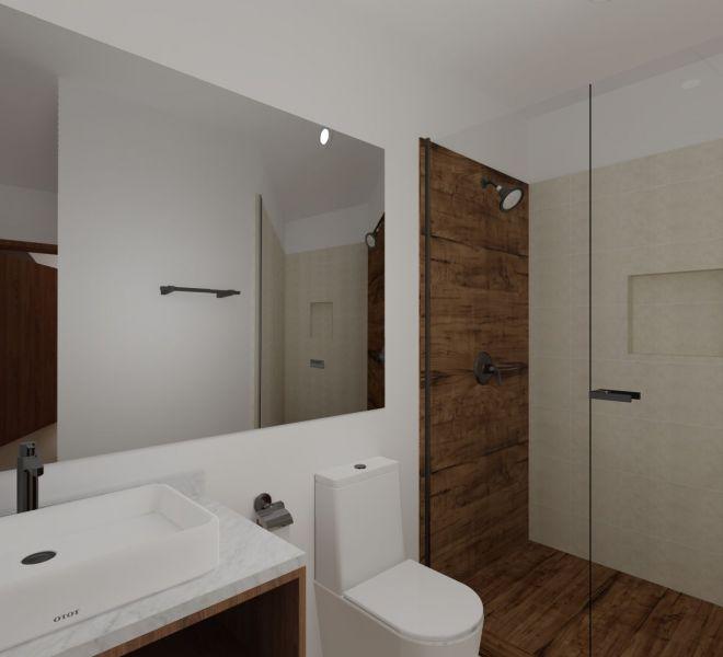 Guest Bathroom - Corner - Ocean View unit - Pavilion Bucerias - Ribiera Nayarit Mexico