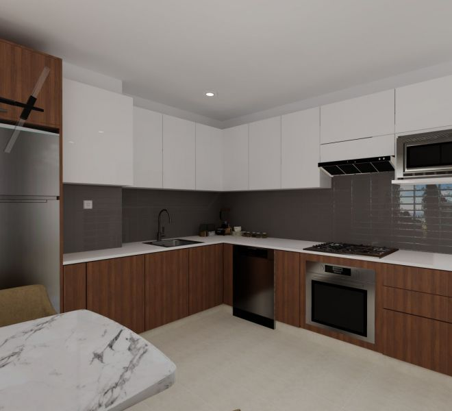 Kitchen finishes - Corner - Ocean View unit - Pavilion Bucerias - Ribiera Nayarit Mexico