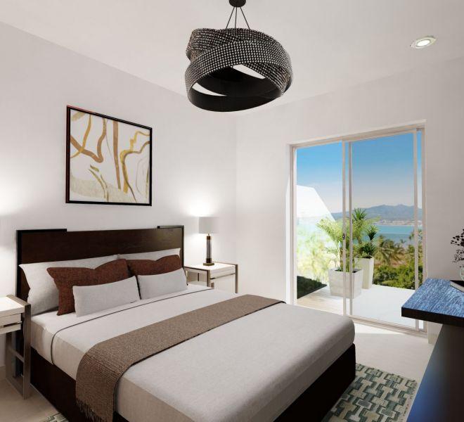Master Bedroom View- Corner - Ocean View unit - Pavilion Bucerias - Ribiera Nayarit Mexico