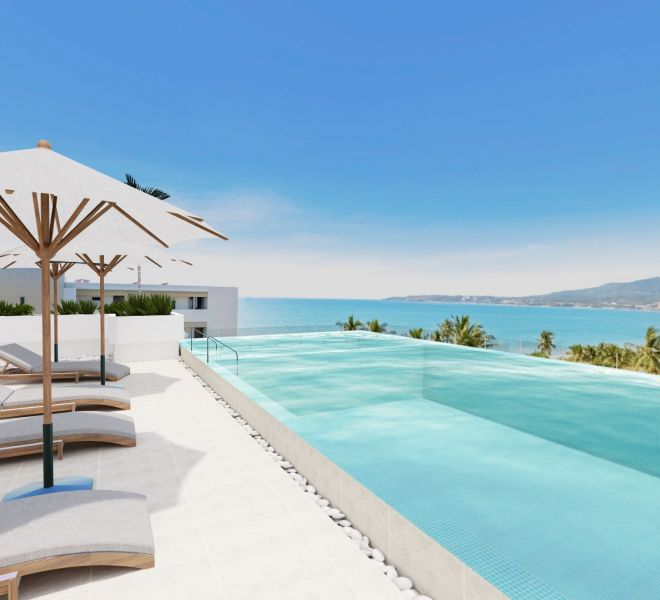 Swimming Pool - Roof Terrace - Pavilion Bucerias - Riviera Nayarit Mexico