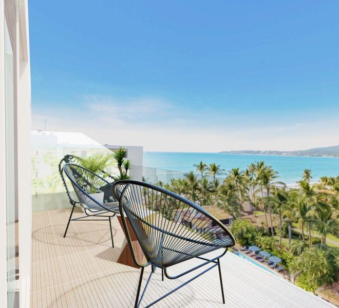 Terrace View - Corner - Ocean View unit - Pavilion Bucerias - Ribiera Nayarit Mexico